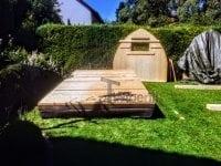 """""""Zrób to sam"""" - Budowa sauny Igloo (cokół i tylna ściana)"""