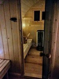 """""""Zrób to sam"""" - Budowa sauny Igloo (przebieralnia i przeszklone drzwi)"""