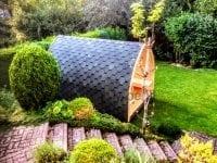 Zakończony projekt DIY sauny Igloo
