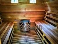 Sauna ogrodowa z podgrzewaczem elektrycznym harvia vega