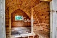 Drewniany kemping od wewnątrz
