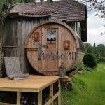 """Sauna zewnętrzna """"Beczka"""" - Szwajcaria"""
