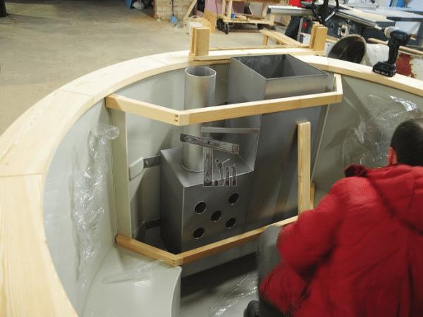 Montaż drewnianej osłony pieca wewnętrznego