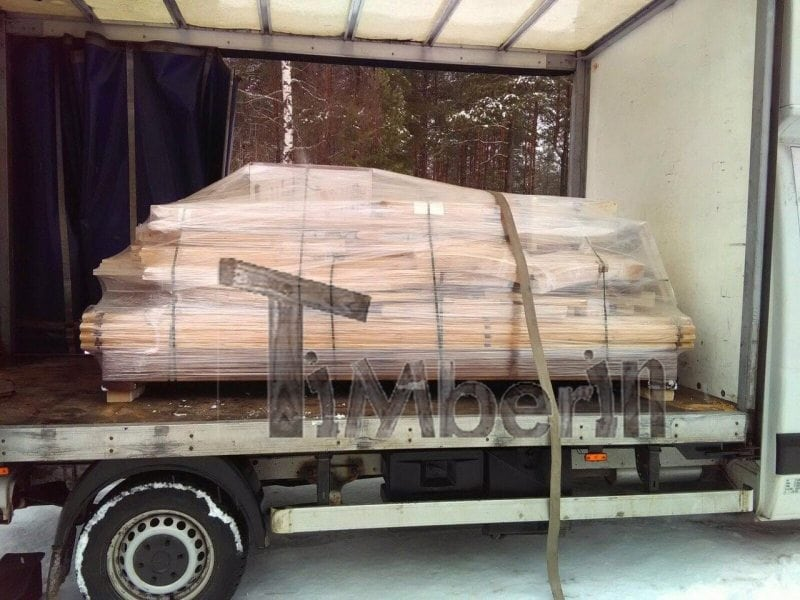 Opakowanie transportowe sauny Igloo do samodzielnego montażu