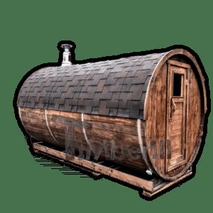 Sauna beczka z piecem opalanym drewnem lub z ogrzewaniem elektrycznym HARVIA
